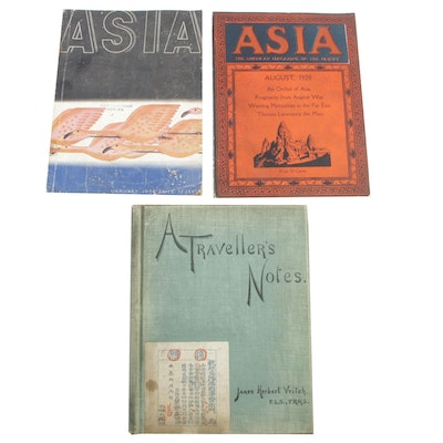 "1896 ""A Traveller's Notes"" by James Veitch with Two ""Asia"" Magazines"