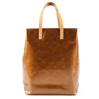 Louis Vuitton Reade MM North South Handbag in Bronze Monogram Vernis