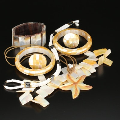 Assorted Jewelry with Shell and Mother of Pearl