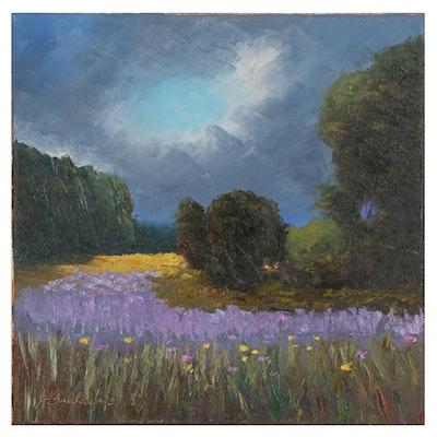 """James Baldoumas Oil Painting """"Storm Clouds"""""""