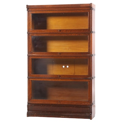 Wernicke Oak 6-Section Barrister's Bookcase