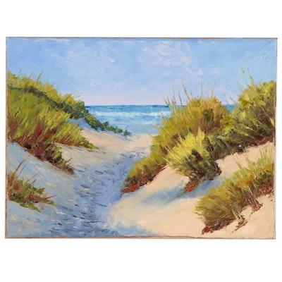 "James Baldoumas Oil Painting ""In the Dunes"""