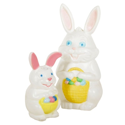 Empire Blow Mold Illuminated Easter Bunnies Lawn Décor, Mid to Late 20th Century