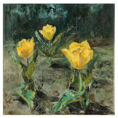 "Garncarek Aleksander Oil Painting ""Tulipany"""