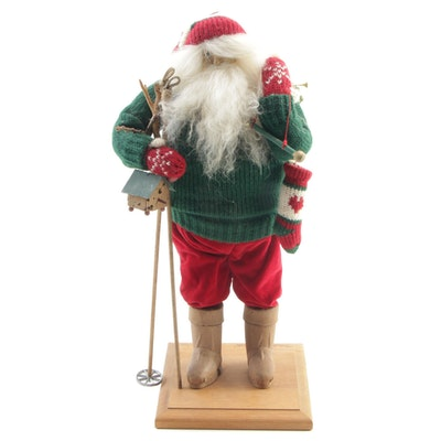 "Lynn Haney ""Mountain Lodge Santa"" Figure, 1994"
