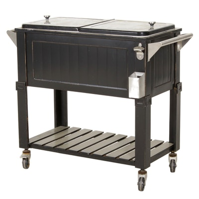 Rolling Patio Cooler, Contemporary