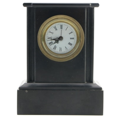 Limestone Encased Mantel Clock, Mid-20th Century