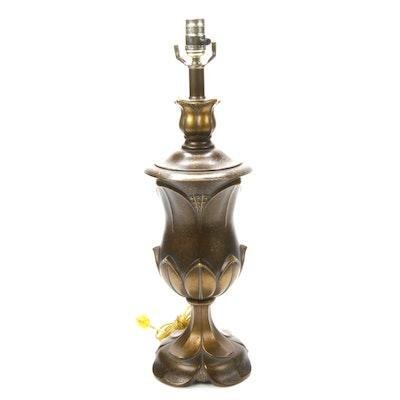 Antiqued Metal Urn Lamp