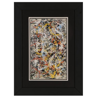 "Reproduction Offset Lithograph after Jackson Pollock ""Convergence"""