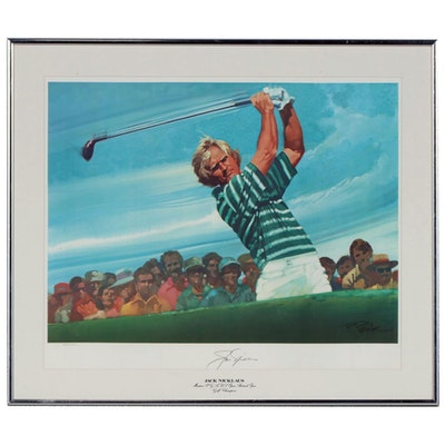 Jack Nicklaus Autographed Lithograph After R.Peak