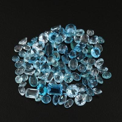 Loose 60.46 CTW Faceted Gemstones Including Topaz, Apatite, and Aquamarine