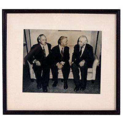Albert Einstein Photograph Signed by J.W. Wunsch, 1954
