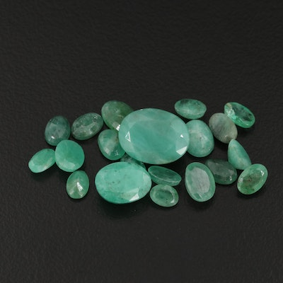 Loose 15.76 CTW Oval Faceted Emeralds