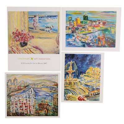 Impressionist Style Offset Lithographs of Cincinnati after Beverly Erschell