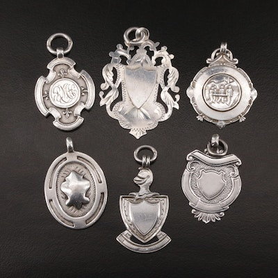 Antique, Vintage and Early to Mid 20th Century Sterling Medallions