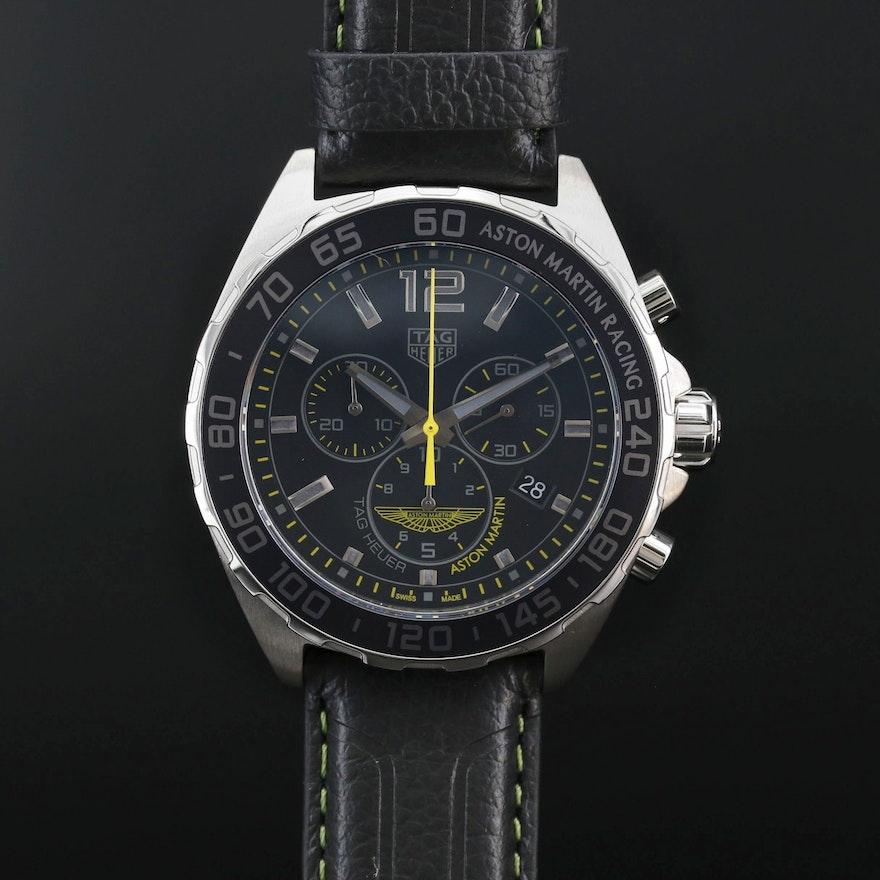TAG Heuer Aston Martin Formula 1 Chronograph Stainless Steel Quartz Wristwatch
