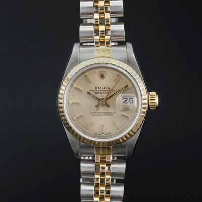 1985 Rolex Datejust 18K and Stainless Steel Automatic Wristwatch