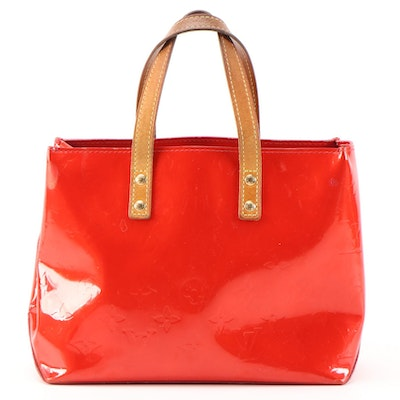 Refurbished Louis Vuitton Reade PM Mini Tote in Monogram Vernis and Leather