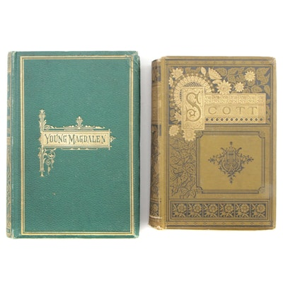 "1873 First Edition ""Young Magdalen"" with ""Poetical Works of Sir Walter Scott"""