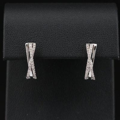 Sterling Silver Diamond Earrings