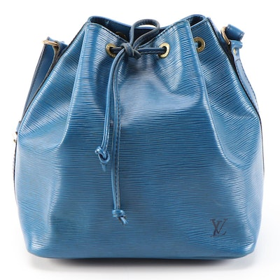 Louis Vuitton Petit Noé Bucket Bag in Toledo Blue Epi Leather