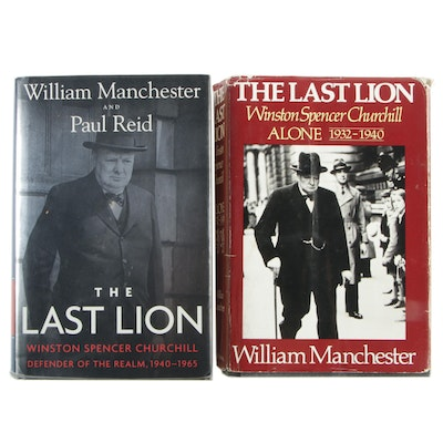 "First Editions ""The Last Lion: Alone"" and ""Defender of the Realm"" by Manchester"