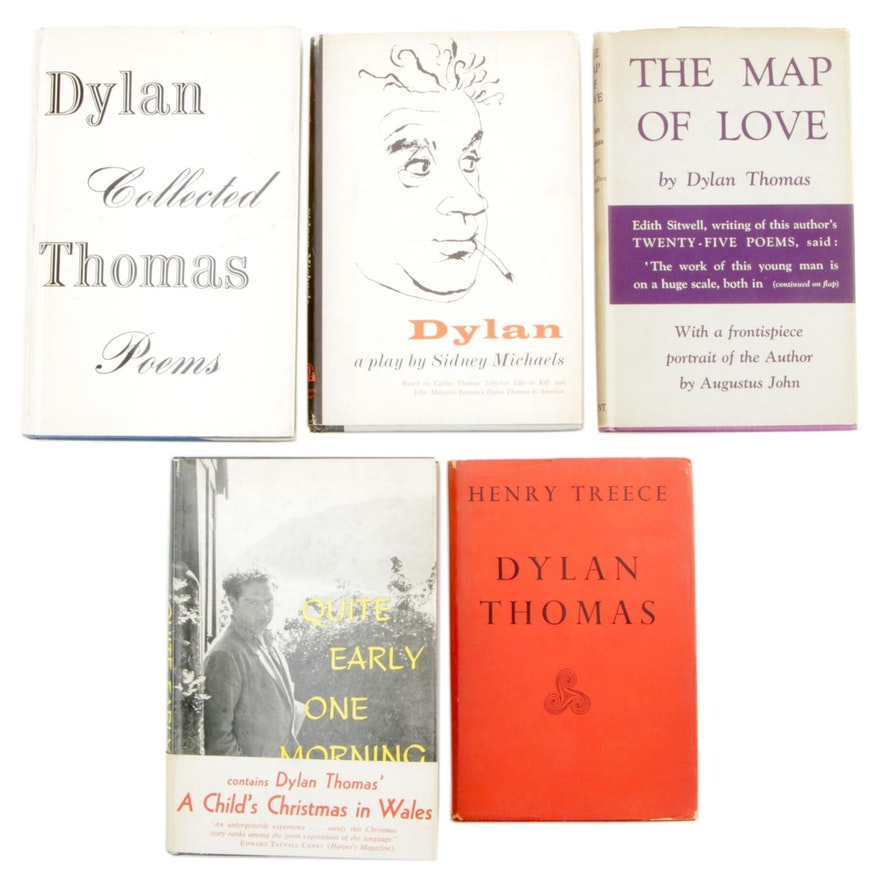 "1939 ""The Map of Love"" with Other First Edition Dylan Thomas Books"