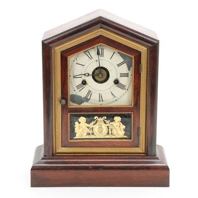 Seth Thomas Rosewood Veneered Thirty Hour Spring Clock, 19th Century