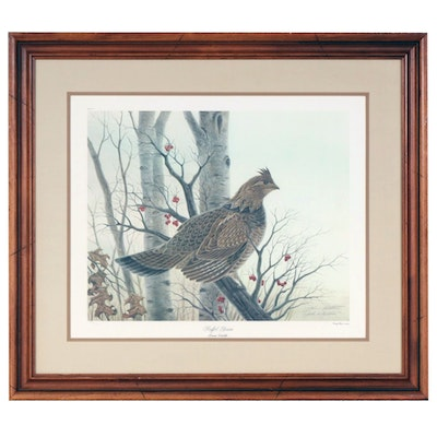 "John A. Ruthven Offset Lithograph ""Ruffled Grouse"""