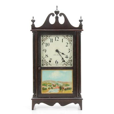 Seth Thomas Mahogany Cased Pillar and Scroll Shelf Clock, 19th Century
