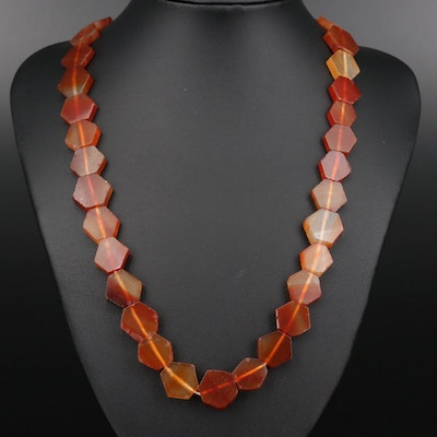 Endless Agate Beaded Necklace