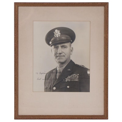 U.S. Army Lt. General Leonard Townsend Gerow Autographed Photograph