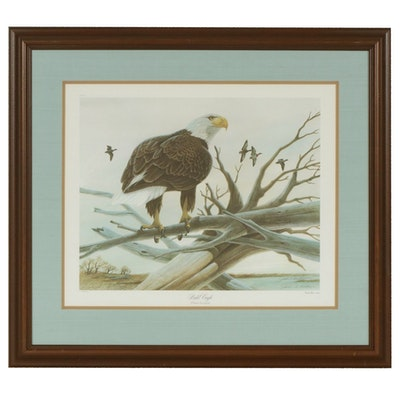 "John A. Ruthven Offset Lithograph ""Bald Eagle"""