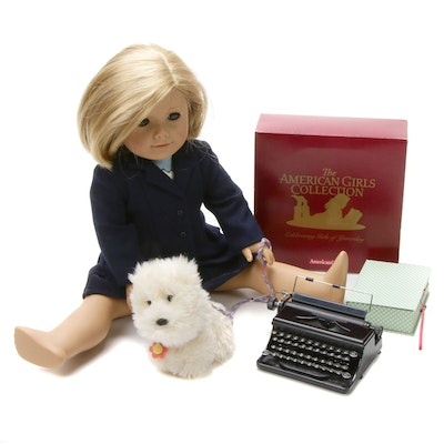 "American Girl ""Kit"" Doll with ""Coconut"" Dog and Typewriter"