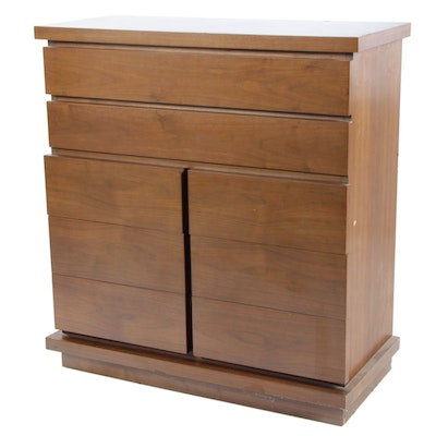 Mid Century Modern Basic-Witz Walnut Chest of Drawers