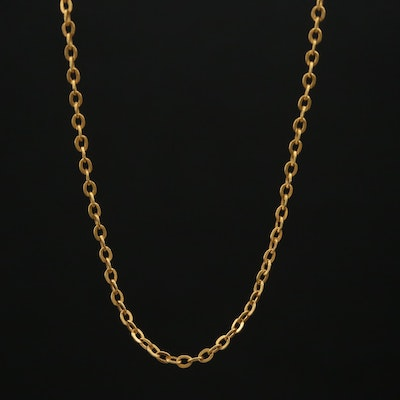 10K Cable Chain Necklace