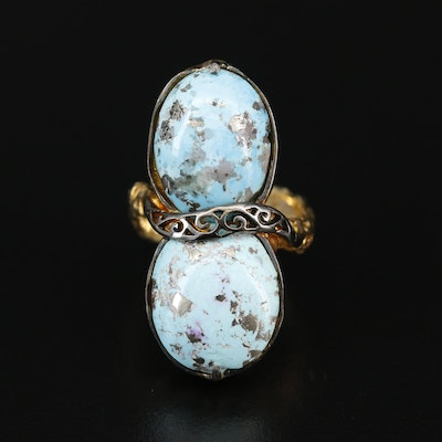 Sterling Silver Turquoise Pointer Ring