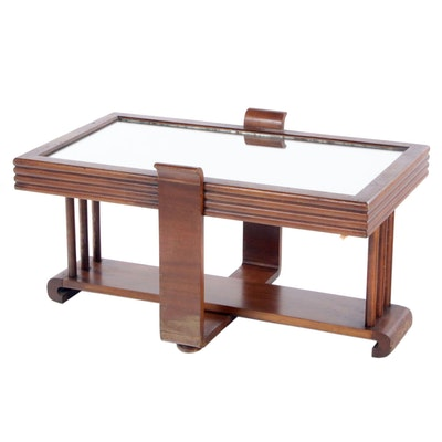 Art Deco Style Walnut Coffee Table