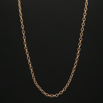 10K Yellow Gold Cable Chain