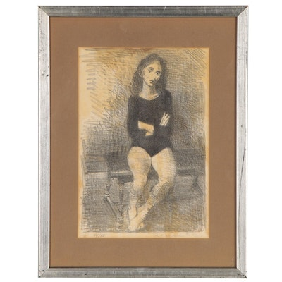 Raphael Soyer Lithograph of Dancer