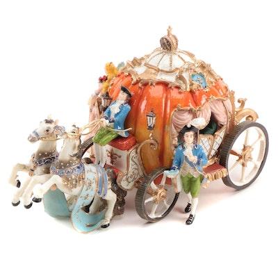 Fitz & Floyd Classics Ceramic Cinderella Musical Figurine in Original Box