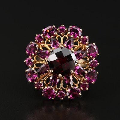 10K Garnet Converter Brooch Ring
