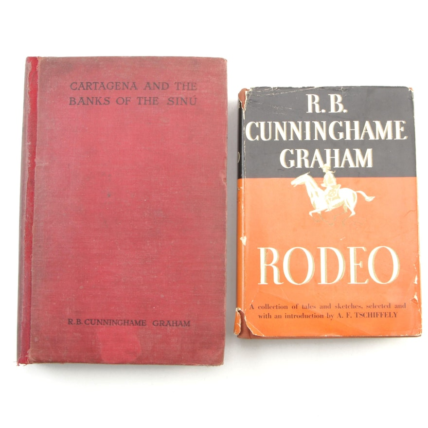 """R. B. Cunninghame Graham Books """"Cartagena and the Banks of the Sinú"""" and """"Rodeo"""""""
