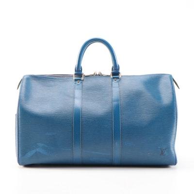 Louis Vuitton Keepall 45 in Toledo Blue Epi Leather