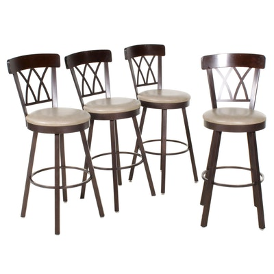 Four Amisco Industries Contemporary Swivel Barstools