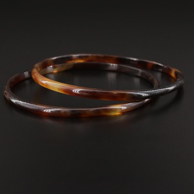 Tortoise Shell Bangle Bracelets