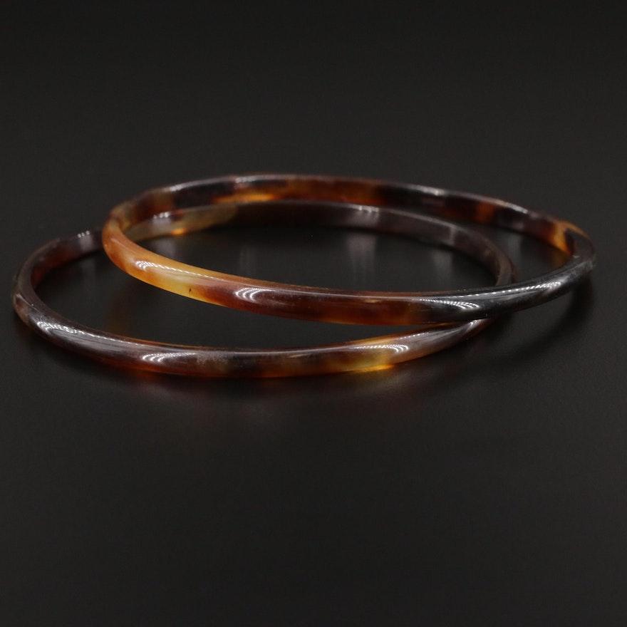 Tortoise Shell Bangle Bracelets