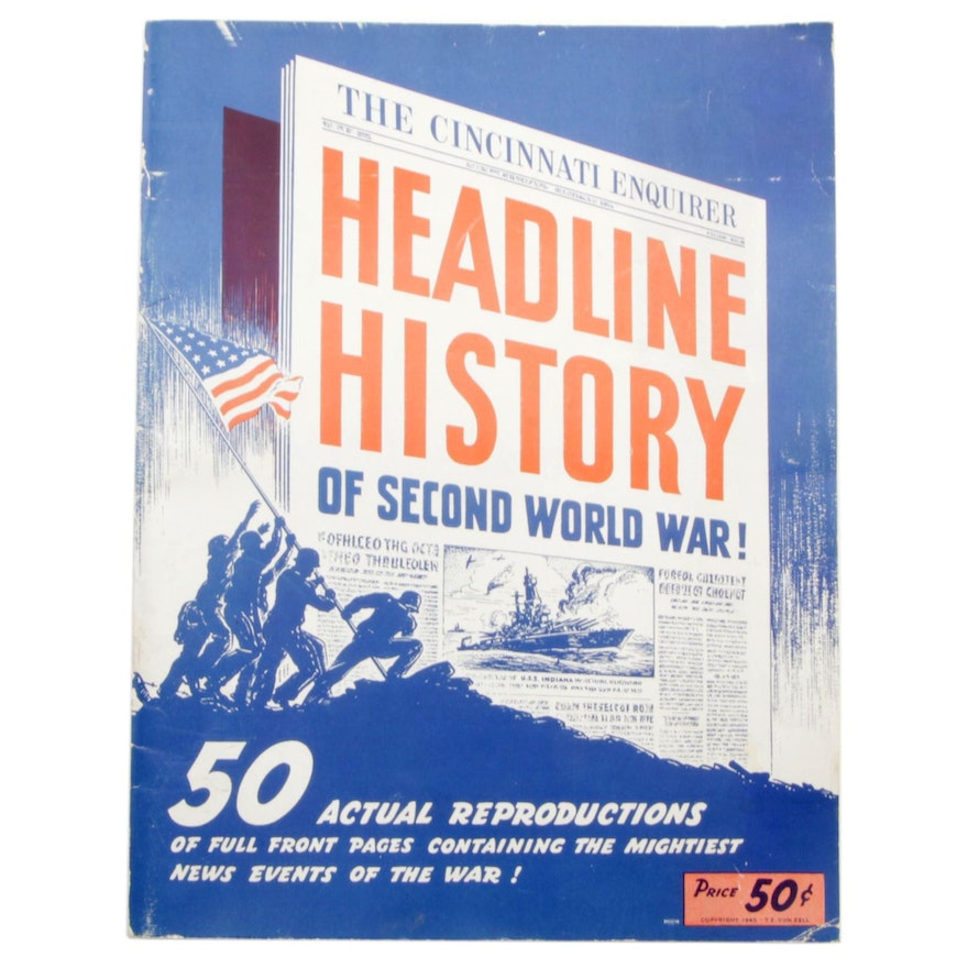 "1945 ""The Cincinnati Enquirer Headline History of Second World War!"""