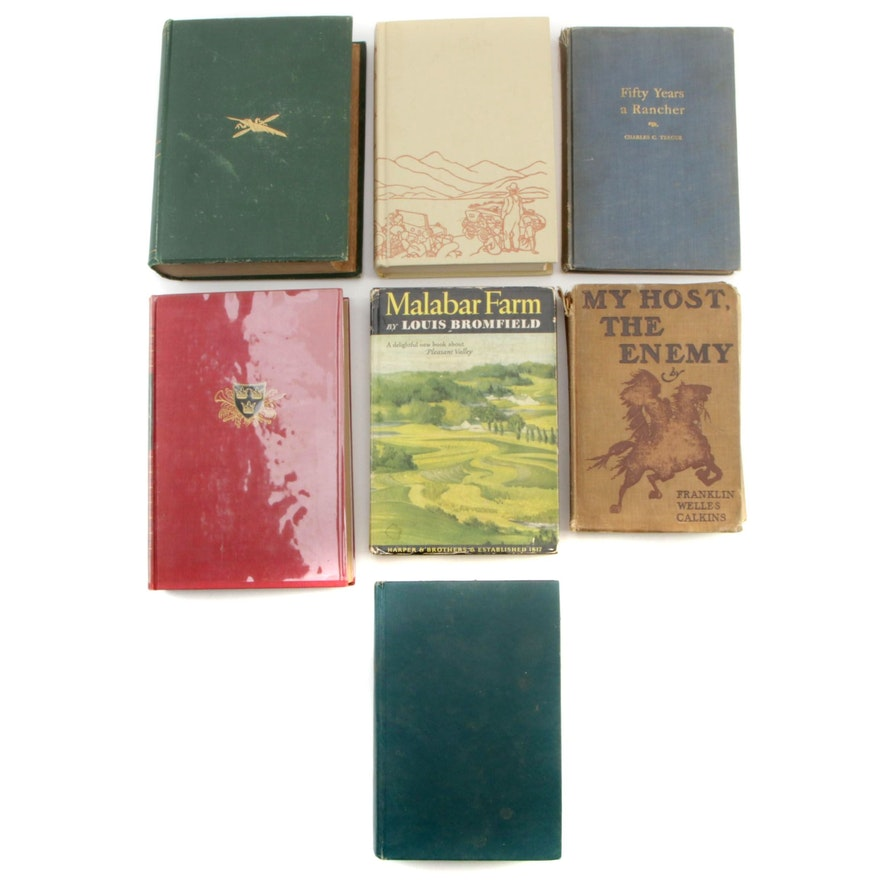 """First Edition """"Steamboat Gothic"""", """"Malabar Farm"""" and Other Volumes"""