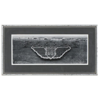 "E.O. Goldbeck Reprint Panoramic Photograph ""Living Air Service Insignia"""